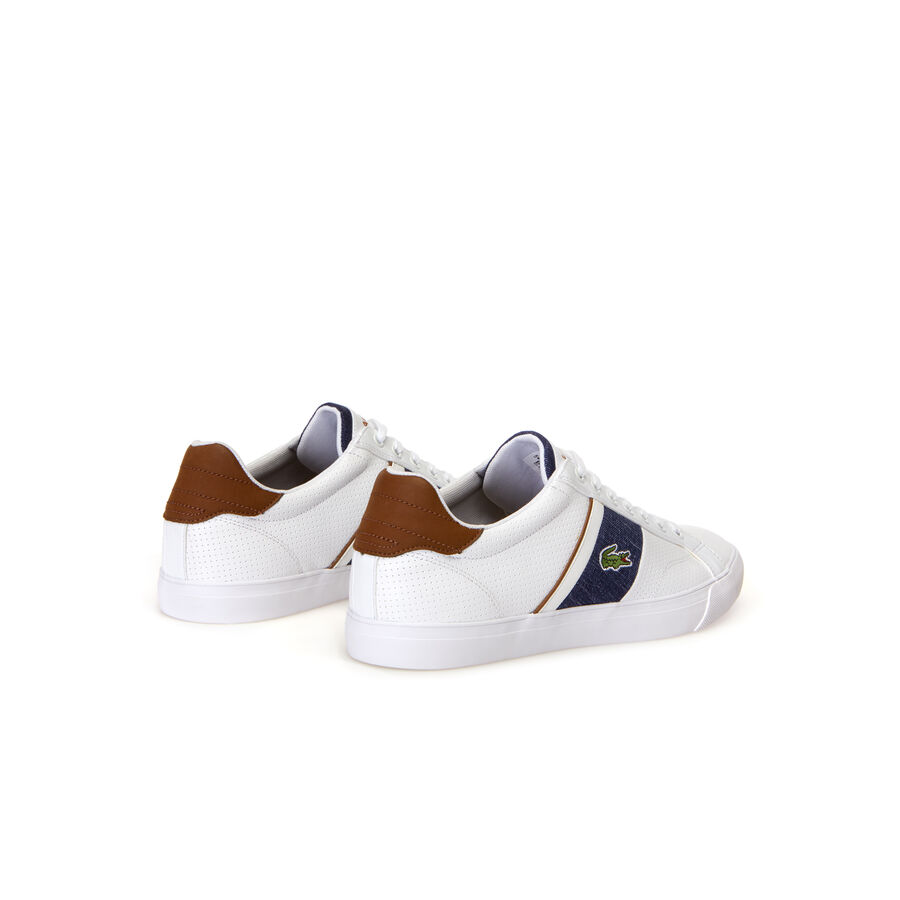 Men's Fairlead Leather and Canvas Trainers