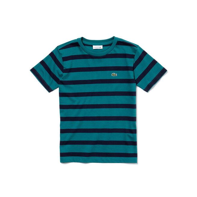 Boys' Striped Cotton Jersey T-shirt
