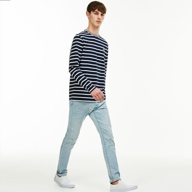 Men's Lacoste LIVE Five-Pocket Turned Edge Stretch Cotton Jeans