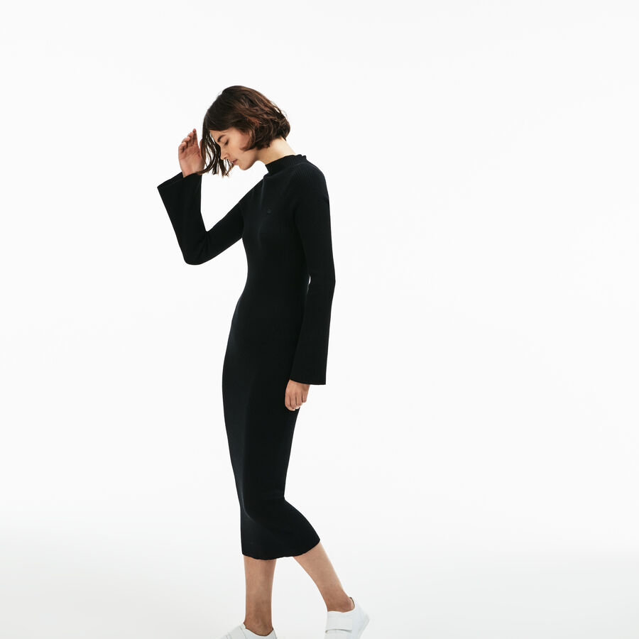 Women's Lacoste LIVE Close-Fitting Ribbed Cotton And Cashmere...