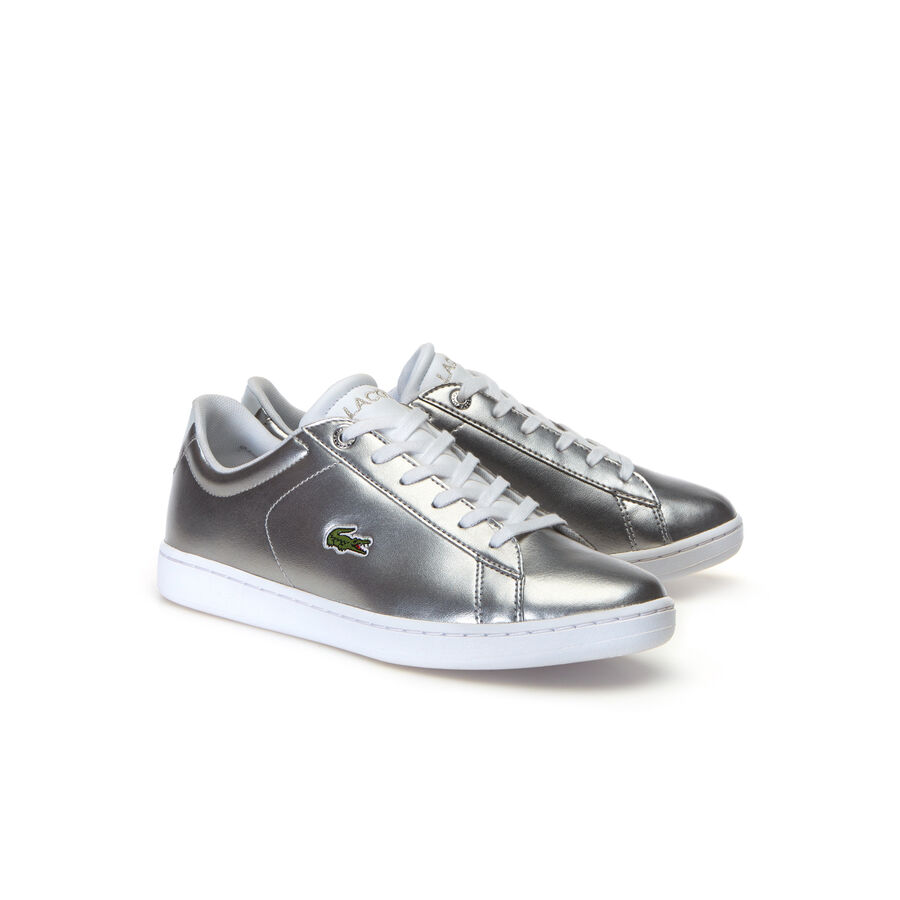 Juniors' Carnaby Evo Silver Synthetic Trainers