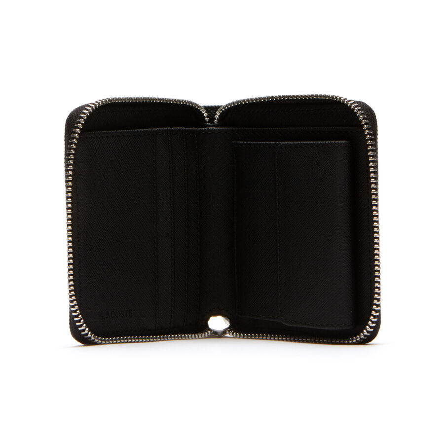 Men's Classic Petit Piqué 3 Card Zip Wallet