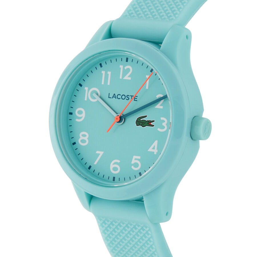 Kids Lacoste 12.12 Watch with Turquoise Silicone Strap