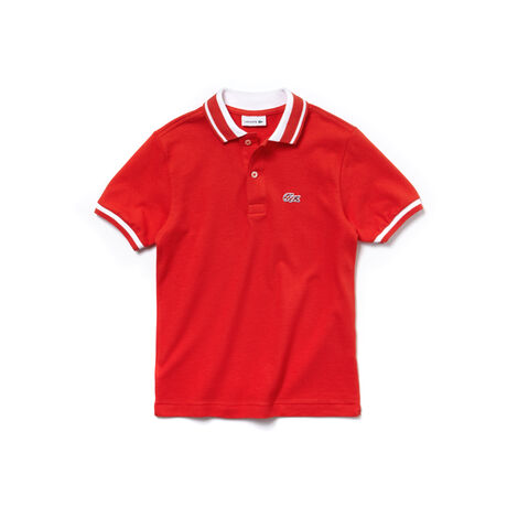 Kids' Lacoste classic fit polo in two-ply fine piqué