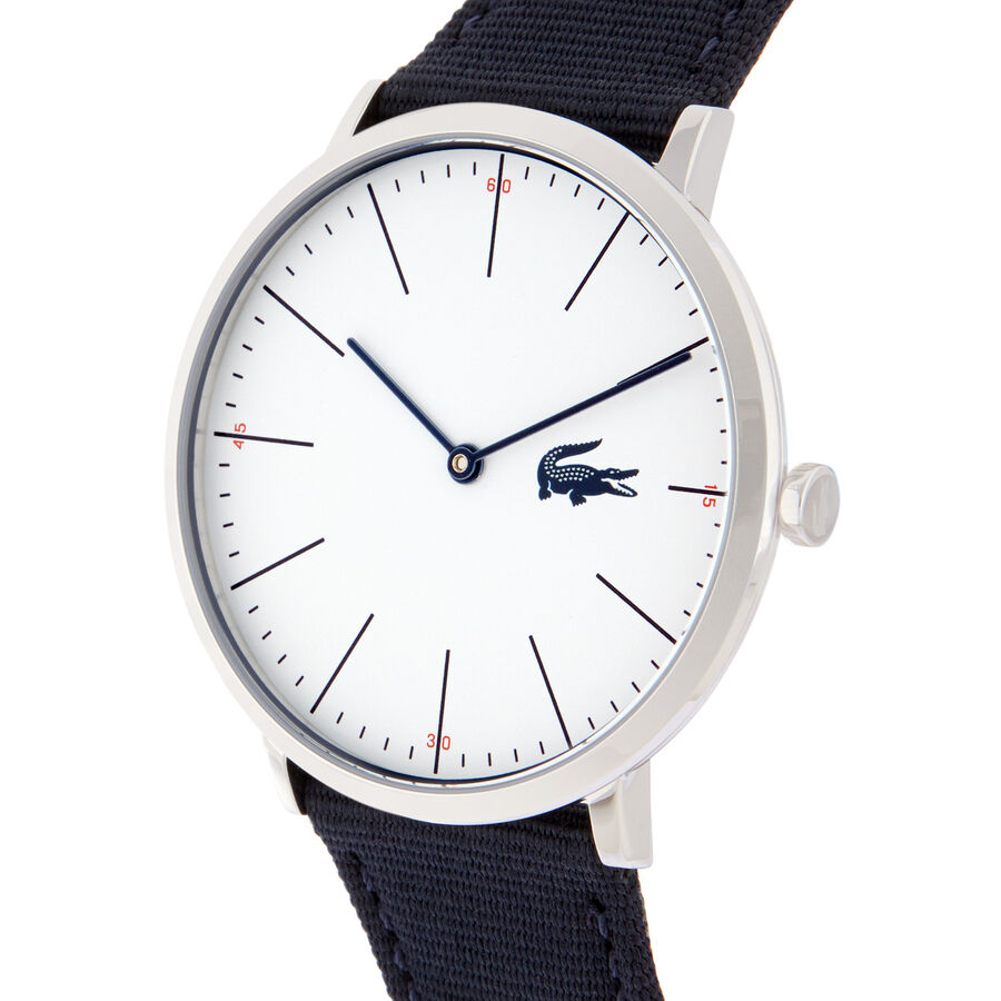 Men's Moon Ultra Slim Watch with Blue Textile Strap
