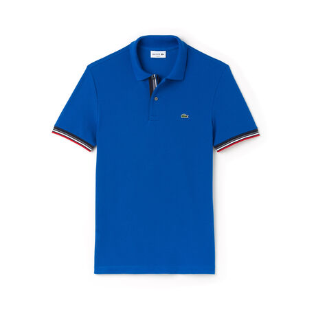 Men's Lacoste Slim Fit Piped Two-Ply Cotton Petit Piqué Polo