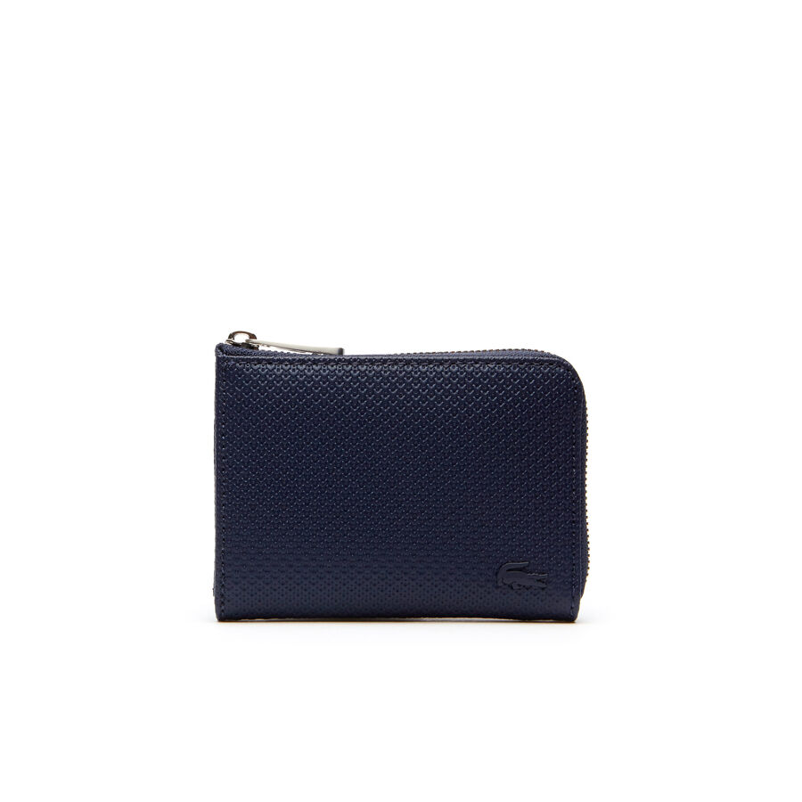 Men's Chantaco Matte Piqué Leather Zip Card Holder