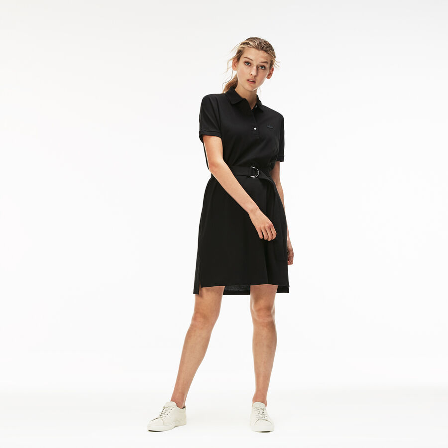 Women's Lacoste Flowing Cotton Piqué Polo Dress