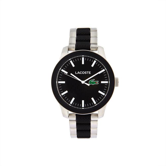 Lacoste 12.12 Watch black dial Bimaterial bracelet