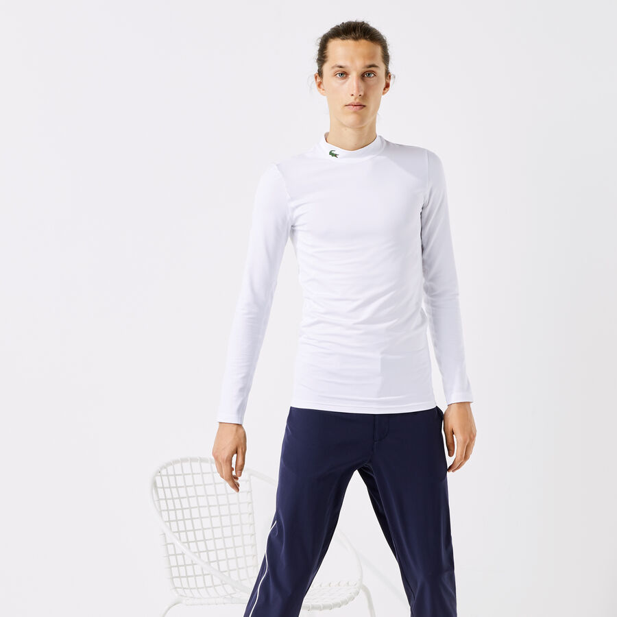 Men's Lacoste SPORT Stand-Up Neck Technical Jersey Golf T-shirt