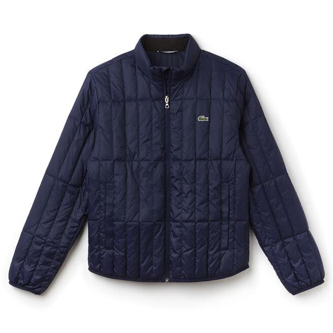 Men's Built-in Hood Quilted Jacket