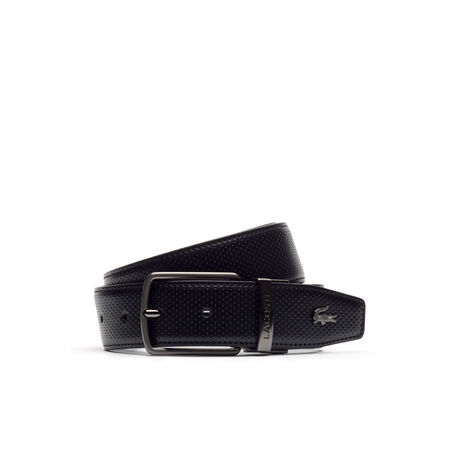 Men's Reversible belt in smooth perforated leather