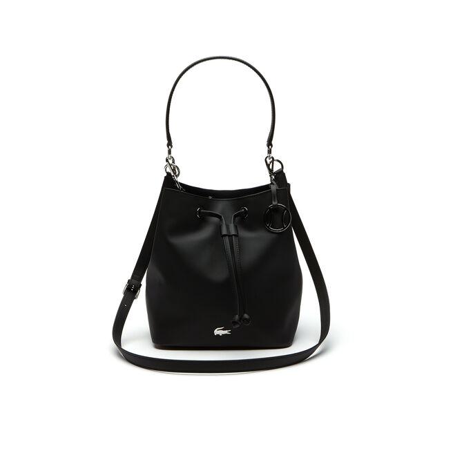 Damen Daily Classic Bucket Bag aus feinem genarbten Piqué-Leder