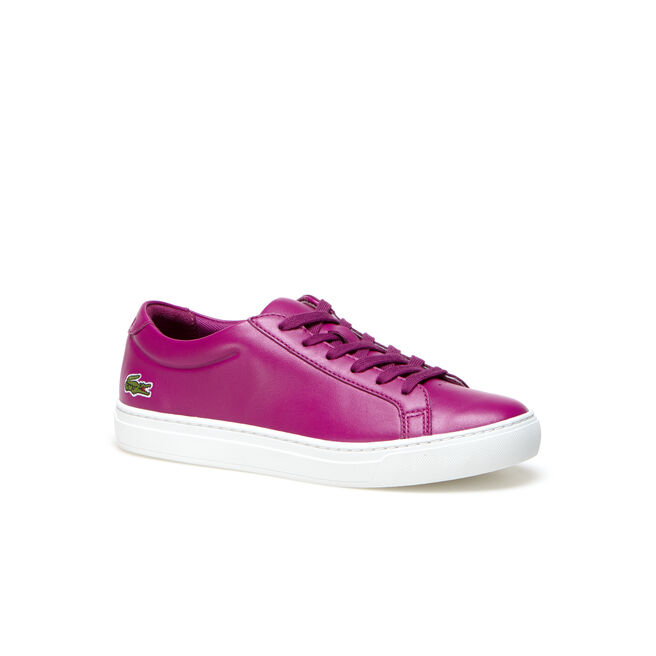 Damen-Sneakers L.12.12 aus glänzendem einfarbigem Leder
