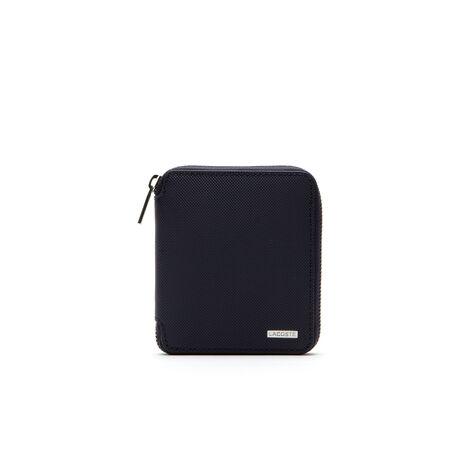 Edward Reißverschluss-Brieftasche aus zweifarbigem Leder
