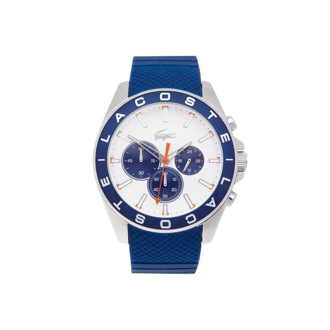 Uhr mit Chronograf und blauem Silikonarmband Westport