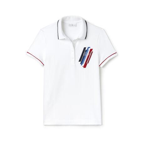 Damen-Polo aus Mini-Piqué LACOSTE SPORT JEUX OLYMPIQUES