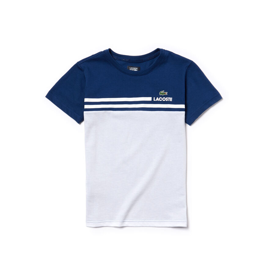 Boys' Lacoste SPORT Colorblock Technical Jersey Tennis T-Shirt