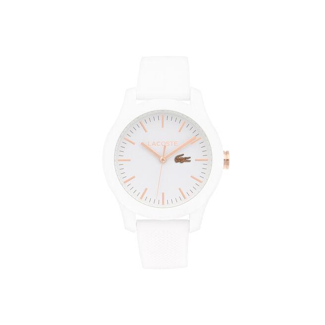 Lacoste 12.12 Watch Women white - Gold IP hands