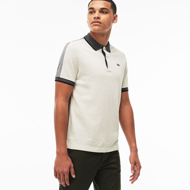 Men's Lacoste LIVE Slim Fit Colorblock Cotton Knit Polo