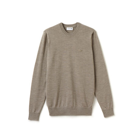 Men's High Neck Wool Jersey Sweater
