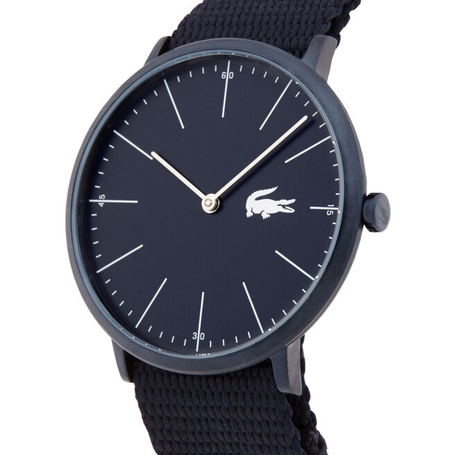 Men's Moon Watch with Black Textile Strap