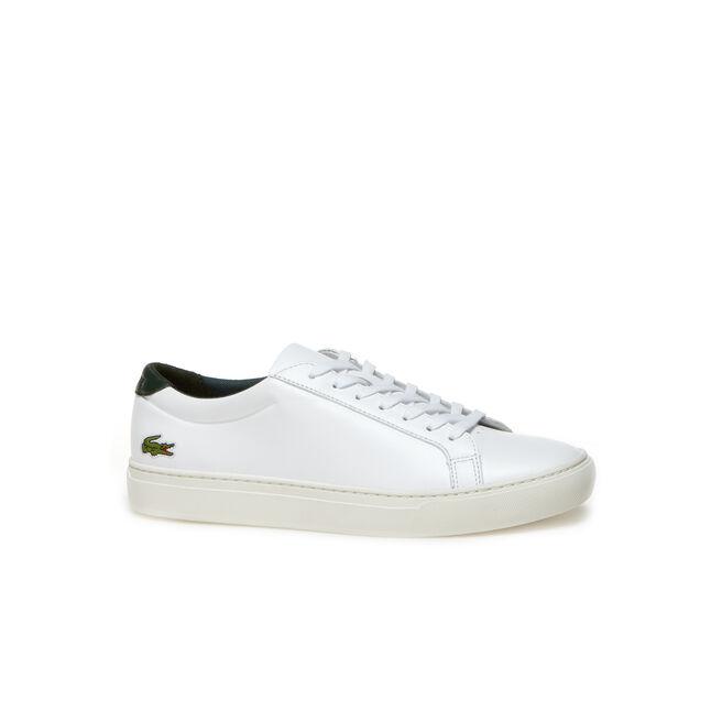 Men's L.12.12 Contrast Heel Leather Sneakers
