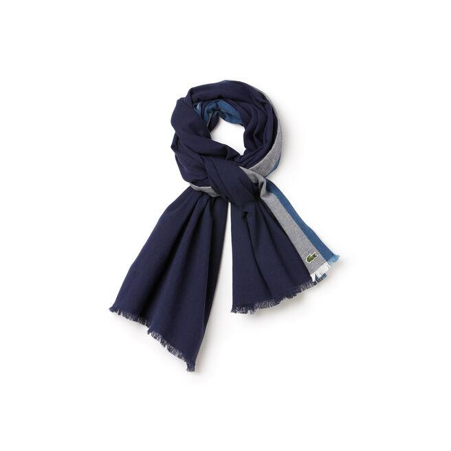 Striped woven cotton scarf