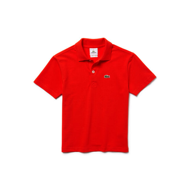 Lacoste SPORT kids' polo in solid ultra-lightweight knit