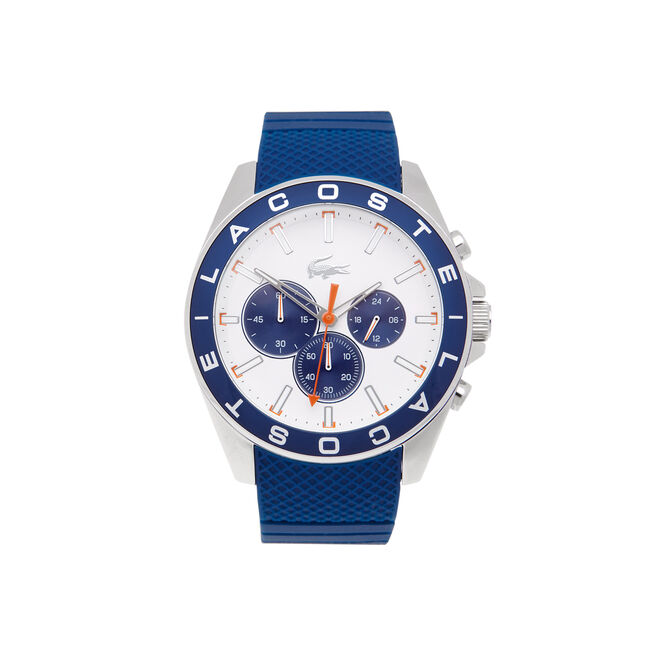 Westport chronograph Watch - blue silicone strap
