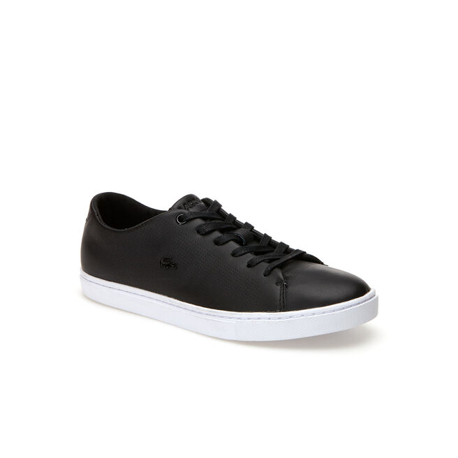 Showcourt Lace low-rise sneakers in leather with perforated accents
