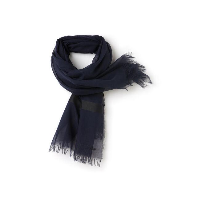 Lightweight striped scarf