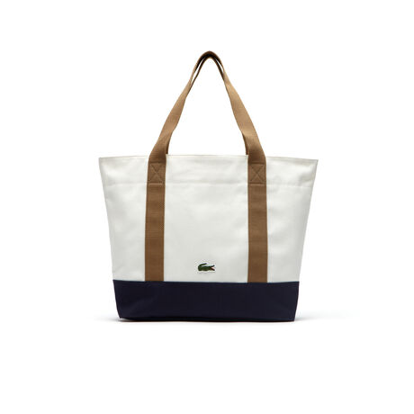 Summer zippered tote bag in cotton - medium format