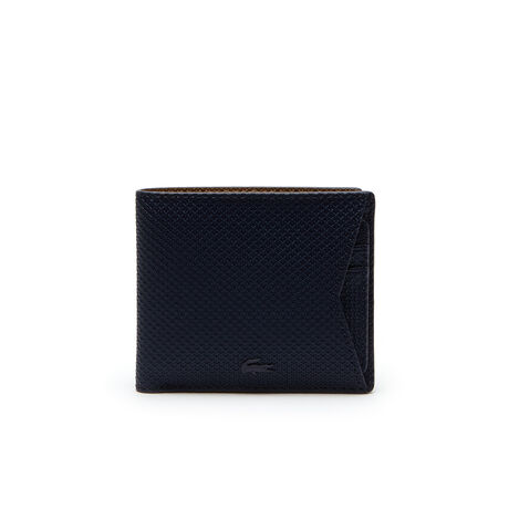 Billetera de hombre de cuero revestido monocromo con tarjetero de la colección Chantaco