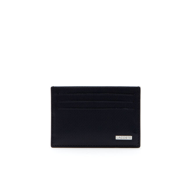 Edward credit card holder in two-tone leather