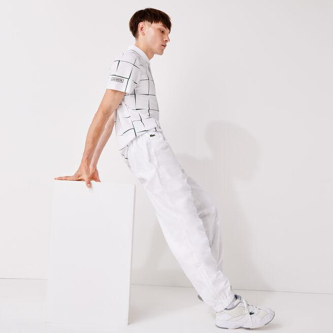 Pantalon de survêtement Tennis Lacoste SPORT en taffetas diamante uni