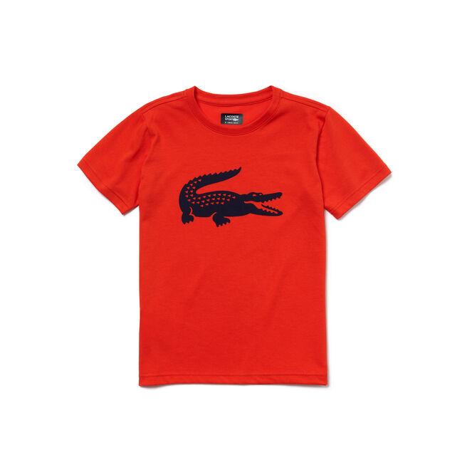 T-shirt Garçon Tennis Lacoste SPORT en jersey technique crocodile oversize