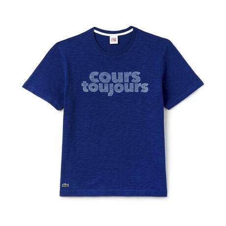 T-shirt col rond Unisexe Lacoste LIVE en jersey avec imprimé Cours Toujours