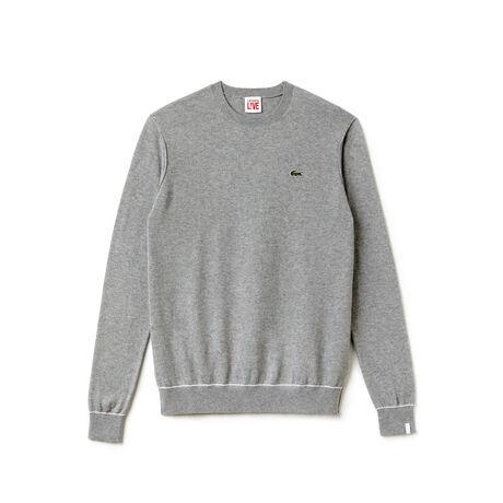 Pull Lacoste LIVE en jersey de coton et cachemire