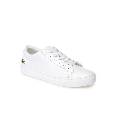 Sneakers L.12.12 in pelle lucida monocroma