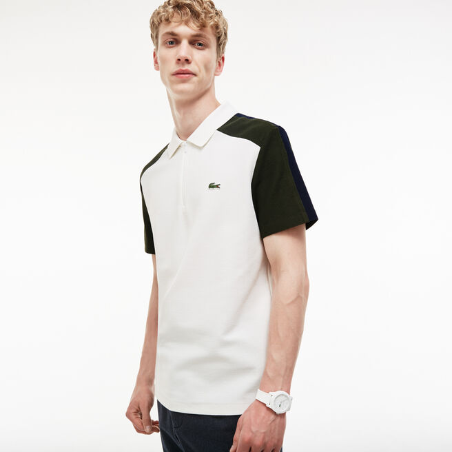 Polo regular fit Lacoste Made in France in piqué color block
