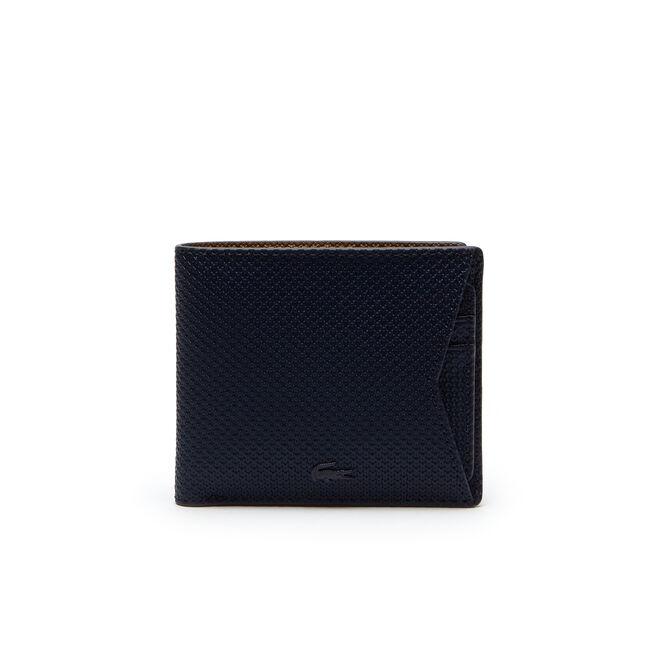 Portafoglio con porta carte rimovibile Chantaco in pelle monocroma rivestita