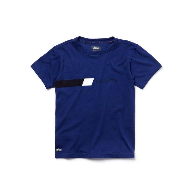 T-shirt Bambino Tennis Lacoste SPORT in jersey con dettaglio color block