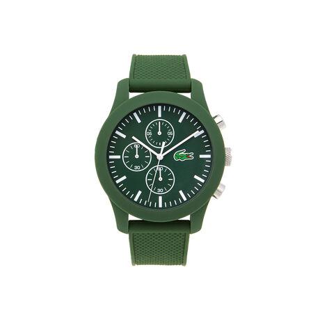 Orologio Lacoste.12.12 con cronografo e cinturino in silicone verde