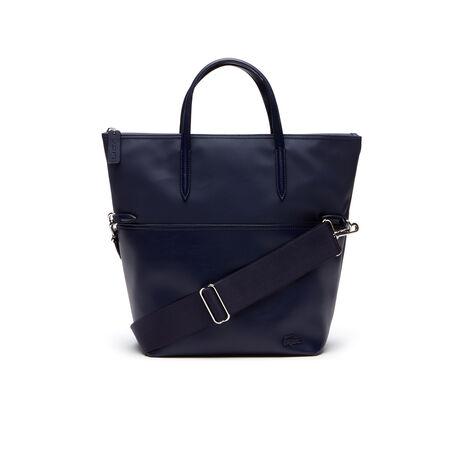 Shopping bag piegata L.2016 in bi-materiale tinta unita