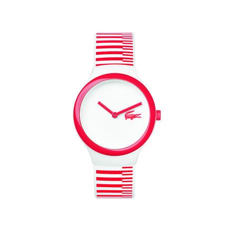 Orologio Goa NEW Bianco Righe rosse