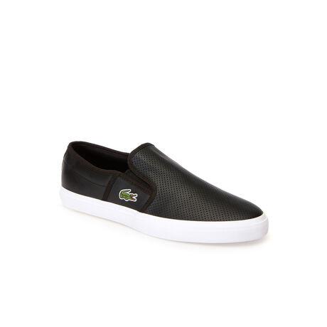 Sneakers senza stringhe Gazon in pelle tinta unita