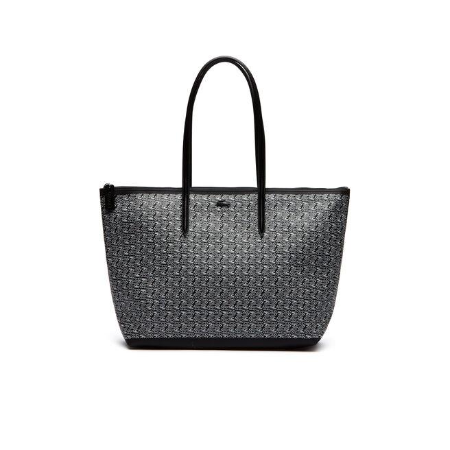 Shopping bag con zip L.12.12 Concept Croc - formato grande