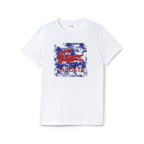 T-shirt Tennis Lacoste SPORT in jersey tecnico con stampa