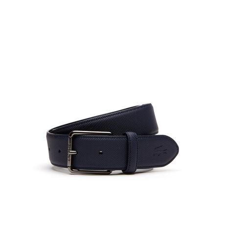 Cintura Men's Classic a petit piqué con fibbia ad ardiglione dotata di incisione Lacoste